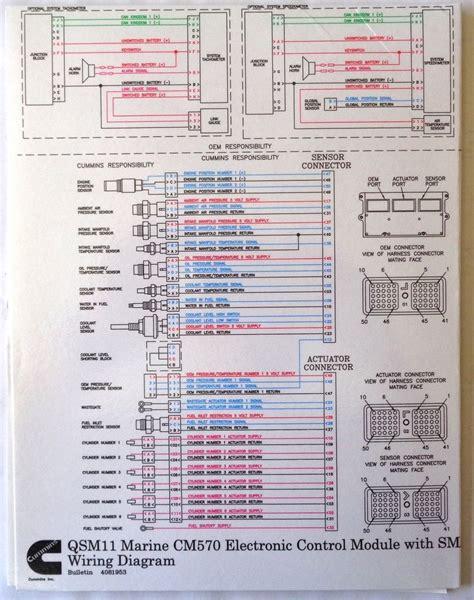 cummins laminated qsm11 cm570 ecm with smart craft wiring diagram ebay