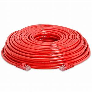 350mhz Red Cat5e Ethernet Network Patch Cable  568b Wire