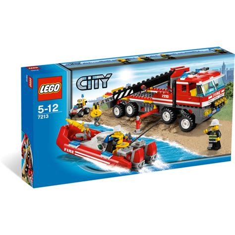 Lego Fire Truck And Boat by Lego Off Road Fire Truck Fireboat Set 7213 Brick Owl
