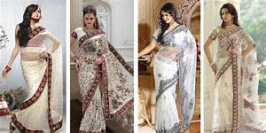 An Expression of Purity & Beauty – White Bridal Saree ...