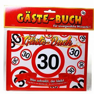 Dekoration 30 Geburtstag : ballonsupermarkt geburtstags g stebuch verkehrsschild 30 zum 30 geburtstag ~ Yasmunasinghe.com Haus und Dekorationen
