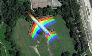 Rainbow Plane On Google Earth