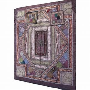 Couvre Lit Indien : acheter couvre lit patchwork indien 220cm x 260cm ~ Teatrodelosmanantiales.com Idées de Décoration