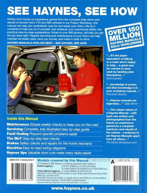 how to download repair manuals 2000 volvo s80 free book repair manuals volvo v70 s80 repair manual 1998 2007 haynes 4263