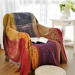 bohemian chenille blanket sofa decorative slipcover throws With decorative throws for couch