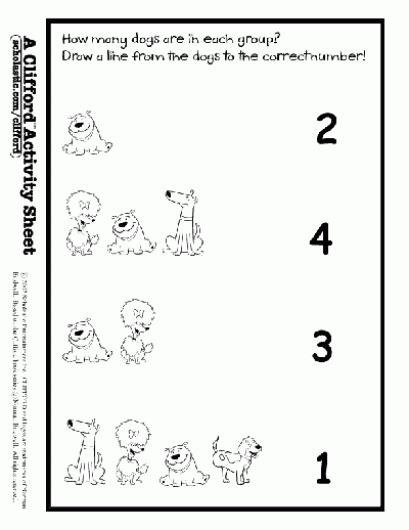 dog match math activities math and activities