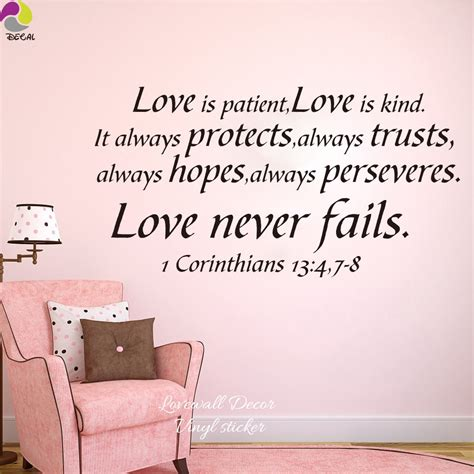 God is love, and whoever abides in love. 1 Cor 13 Song of Love Bible Verse vinyl wall Stickers decal Love God Love life quote Art Decor ...