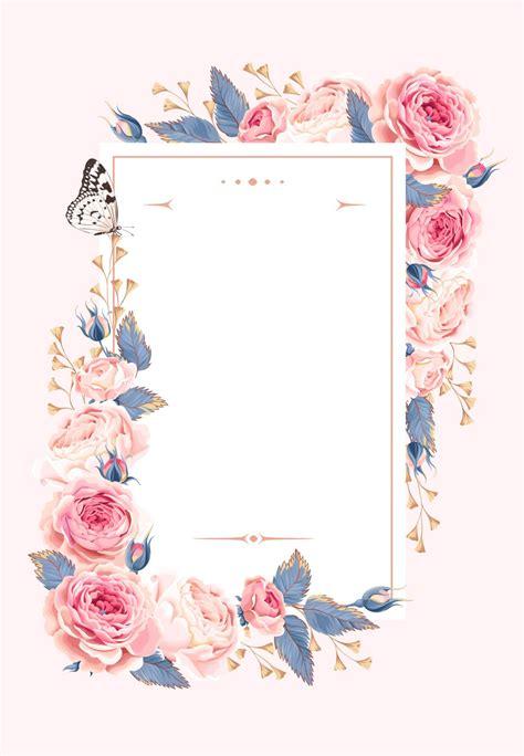 Climbing Roses Wedding Invitation Template (free