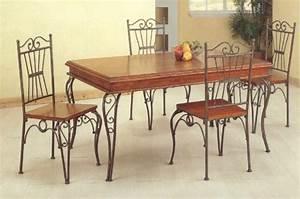 table a manger fer forge With salle À manger contemporaine avec table en fer forgé conforama