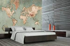 Carte Du Monde Deco Murale : poster mappemonde vintage carte du monde g ante ~ Dailycaller-alerts.com Idées de Décoration