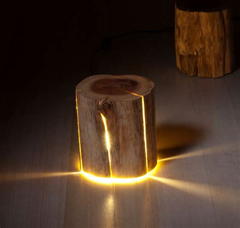 log lamp lamps   salvaged logs