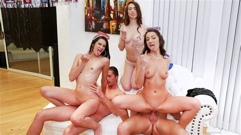 Celebrating The New Year With A Group Of Sexy Cock Hungry