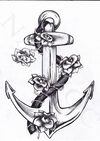 Anchor Tattoo Designs Tattoos Navy Sea Drawing