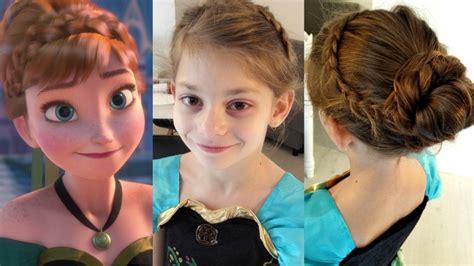 coiffure anna tuto chignon de princesse une video