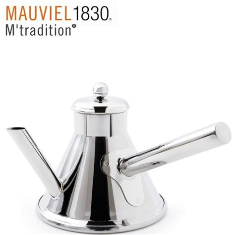 mauviel cuisine m tradition verseuse normande inox 0 75l induction
