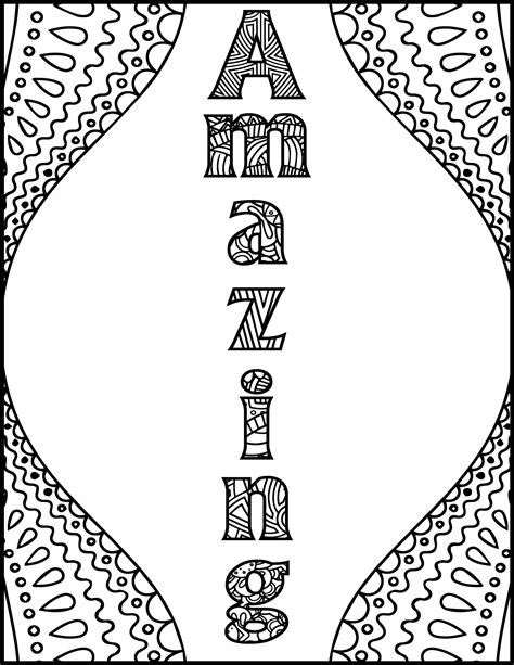 positive affirmations coloring pages  adults adult etsy