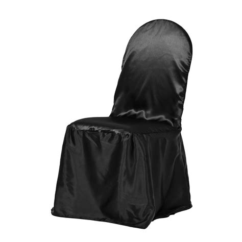 satin banquet chair cover black for weddings and special