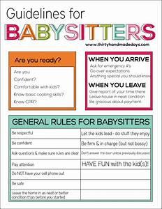Babysitting Nanny Jobs Guidelines For Babysitters Babysitting Classes