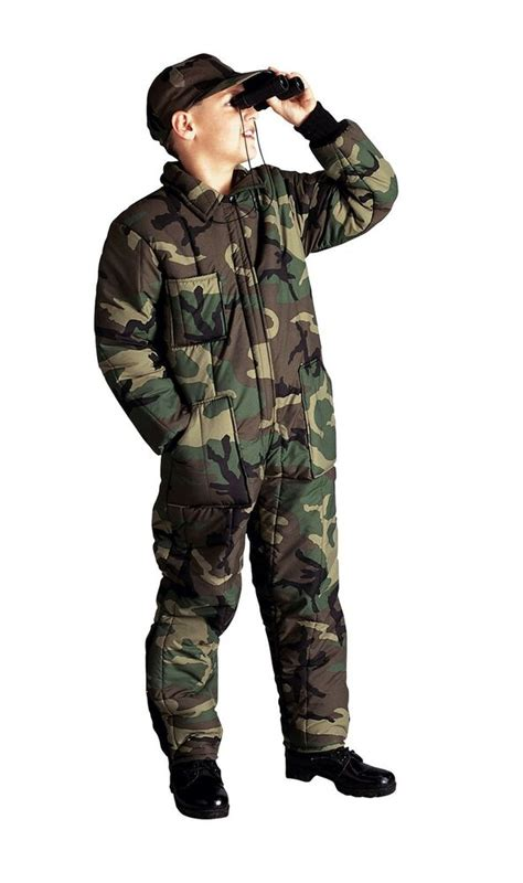 kids wood camo insulated coveralls boys winter overalls