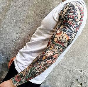 25+ Best Ideas about Traditional Tattoo Sleeves on ...