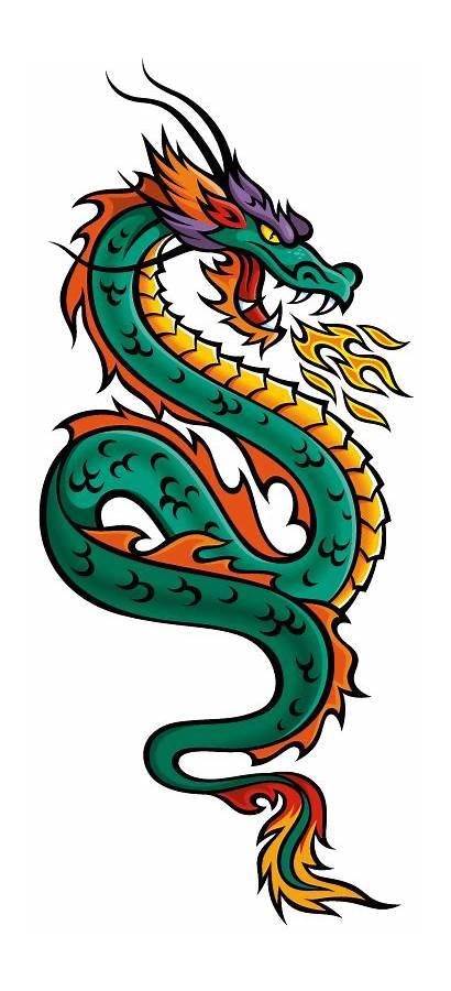 Dragon Tail Naga Chinese Ekor Daun Dragons