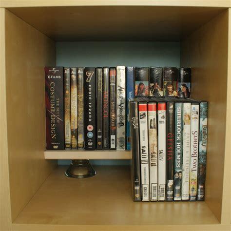 ikea dvd rack minimalistic dvd rack in an expedit ikea hackers ikea