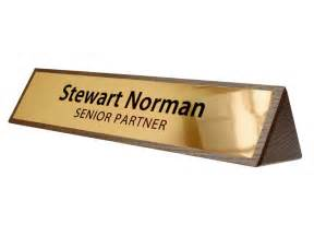 Wooden Desk Name Plates