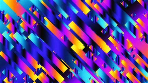wallpaper neon ribbons geometric colorful hd
