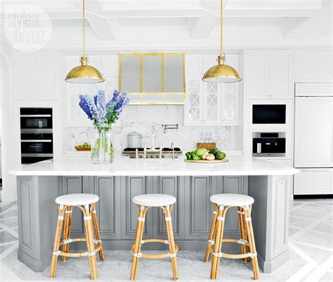 glam bistro style kitchen  french colonial