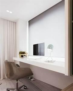 Eclairage Moderne : design interieur meuble bureau moderne clairage indirect chaise bureau roulettes panneau ~ Farleysfitness.com Idées de Décoration