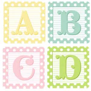 Baby Alphabet Blocks Pastel