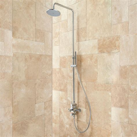 bathroom showers exira thermostatic shower with hand shower bathroom