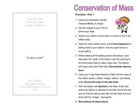 conservation  mass   grade worksheet lesson planet