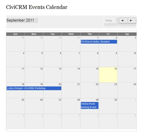 civicrm multi day drupal calendar views
