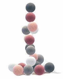 Cotton Balls Lichterkette : good moods led lichterkette cotton balls puderrosa altrosa grau wei bei fantasyroom online kaufen ~ Frokenaadalensverden.com Haus und Dekorationen