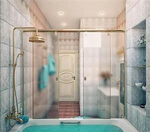 le pare baignoire coulissant se soigne de votre confort With porte de douche coulissante avec quel plafonnier pour salle de bain