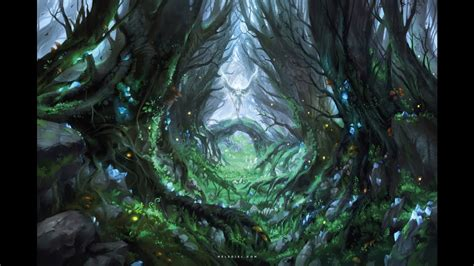 magical forest digital painting youtube