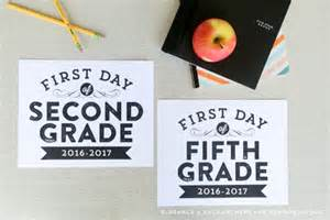 2017 First Day of School Signs Printable