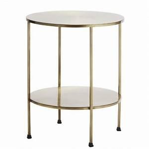 Table D Appoint Canapé : table d appoint bout de canape retro vintage metal dore ~ Teatrodelosmanantiales.com Idées de Décoration