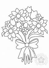 Bouquet Flower Drawing Coloring Roses Pages Flowers Templates Drawings Sheets Flowerstemplates sketch template