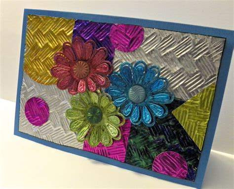 upcycled foil collage greeting card favecraftscom