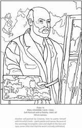 Coloring Self Portrait Cezanne Paul Adult Van Dover Publications Cézanne Arte Boyama Doverpublications Para Colorir Vans Unfortunate Events Paintings Template sketch template