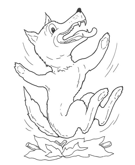 Three Little Pigs Coloring Pages for childrens printable