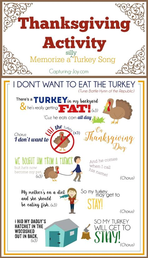 thanksgiving printable songs festival collections