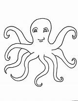 Octopus Coloring Printable Drawing Outline Sheets Cartoon Template Craft Ocean Clipart Preschool Animal Bestcoloringpagesforkids Drawings Idea Library Coral sketch template