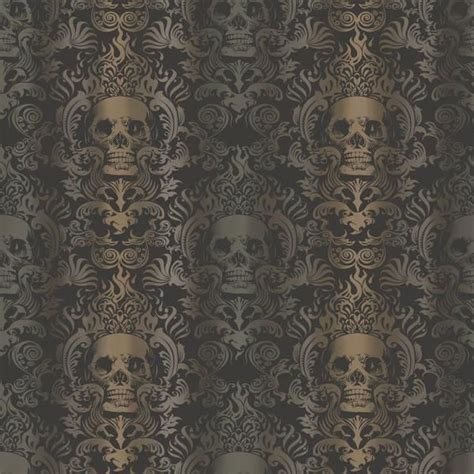 chesapeake luther sand skull modern damask wallpaper beige damask wallpaper brewster