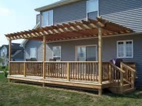 Building Pergola Over Deck by How To Amp Repair How To Build A Free Standing Deck Build