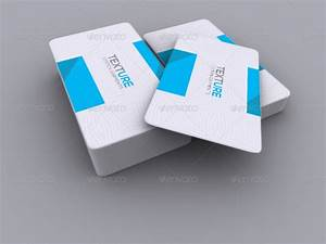 Realistic round corner business card mock up by axnorpix for Round corner business card mockup