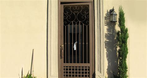 window security bars interior wrought iron security doors screens orange county ca