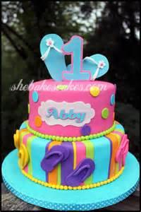 Flip Flop Themed Birthday Cake